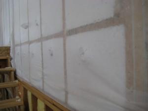 "<img scr="" Spray-Fiberglass-over-barrier.jpg"" alt=""Spray fiberglass  insulation in walls, Kansas City, Murray Insulation"">"
